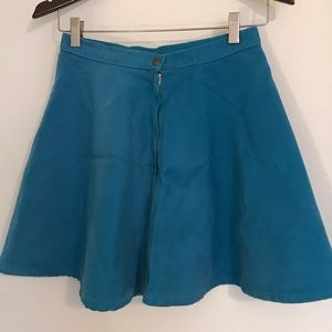 American apparel blue circle skirt